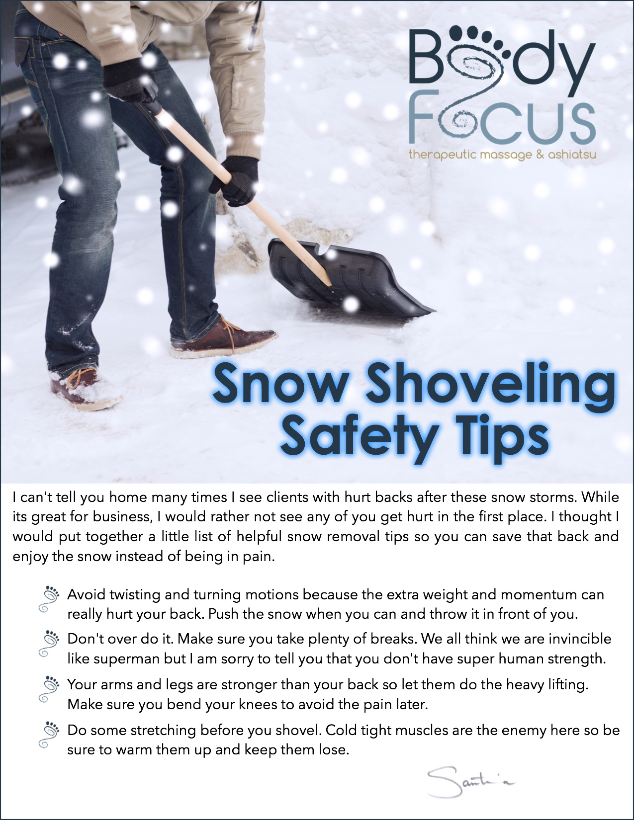 Shoveling Safety Tips