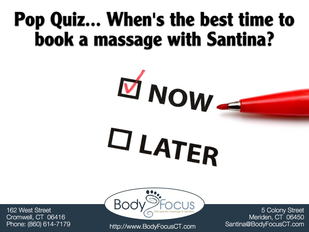 Schedule an appointment Body Focus Therapeutic Massage