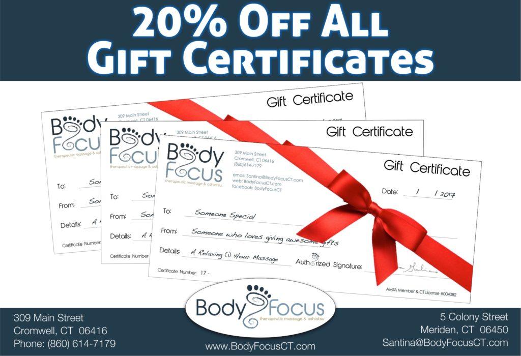 Body Focus Massage Gift Certificate